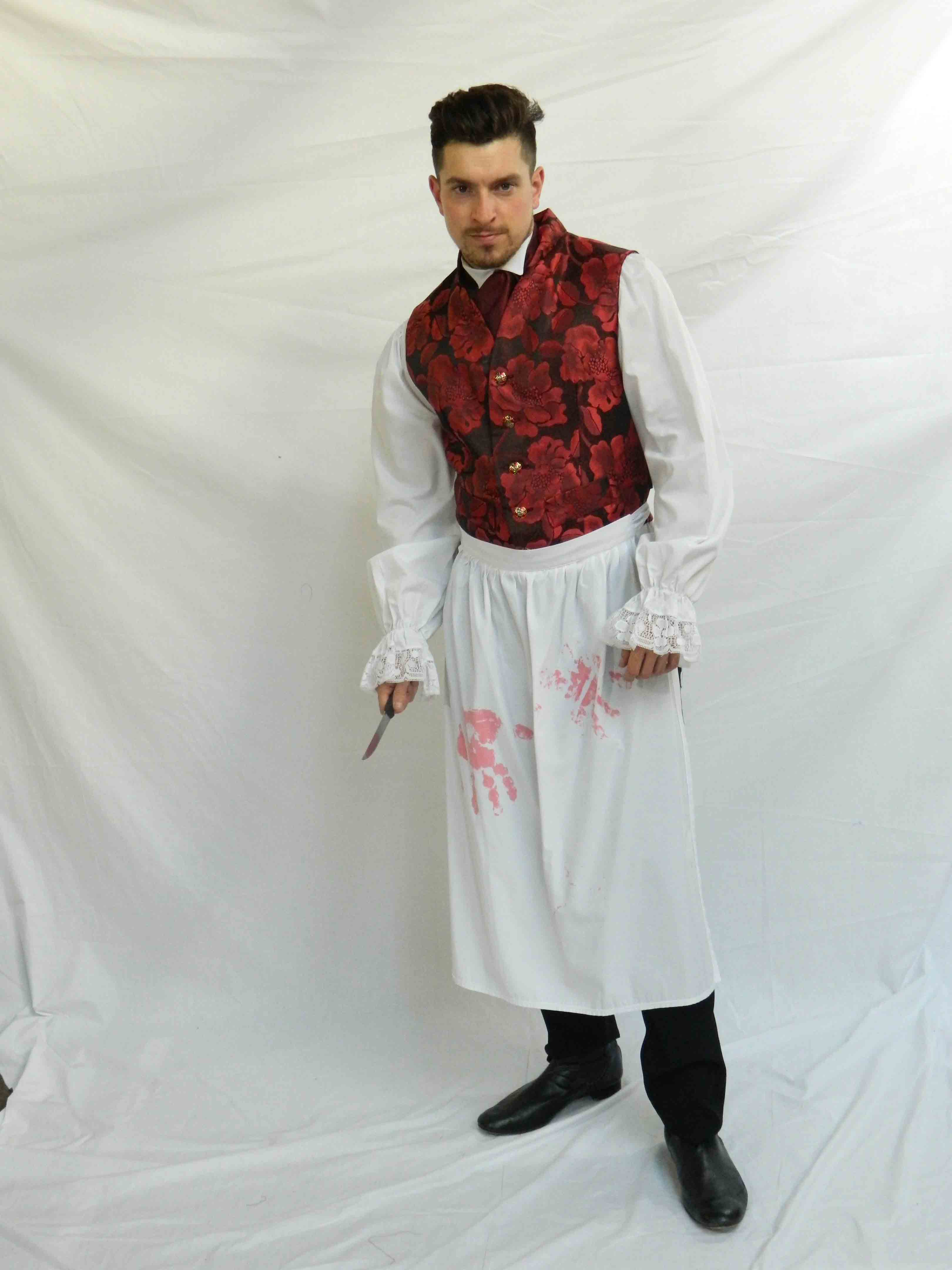 Sweeney Todd Fancy Dress Costume Red
