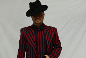 Deluxe tailored zoot suit 1920s fancy dress hire costume