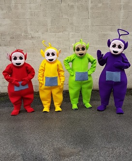 teletubbies character hire