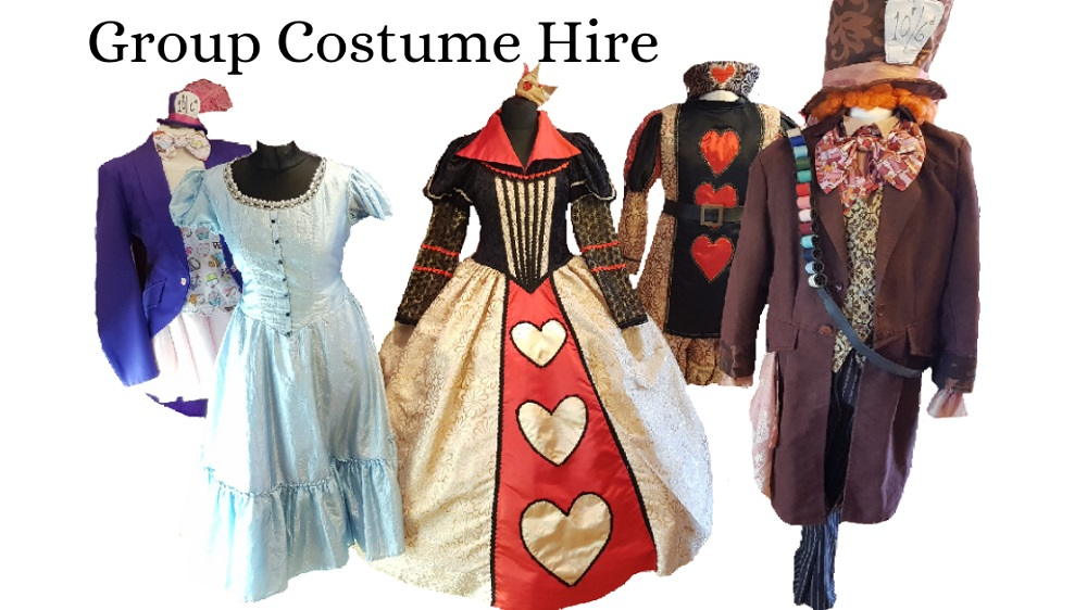 Alice Wonderland corporate costume hire
