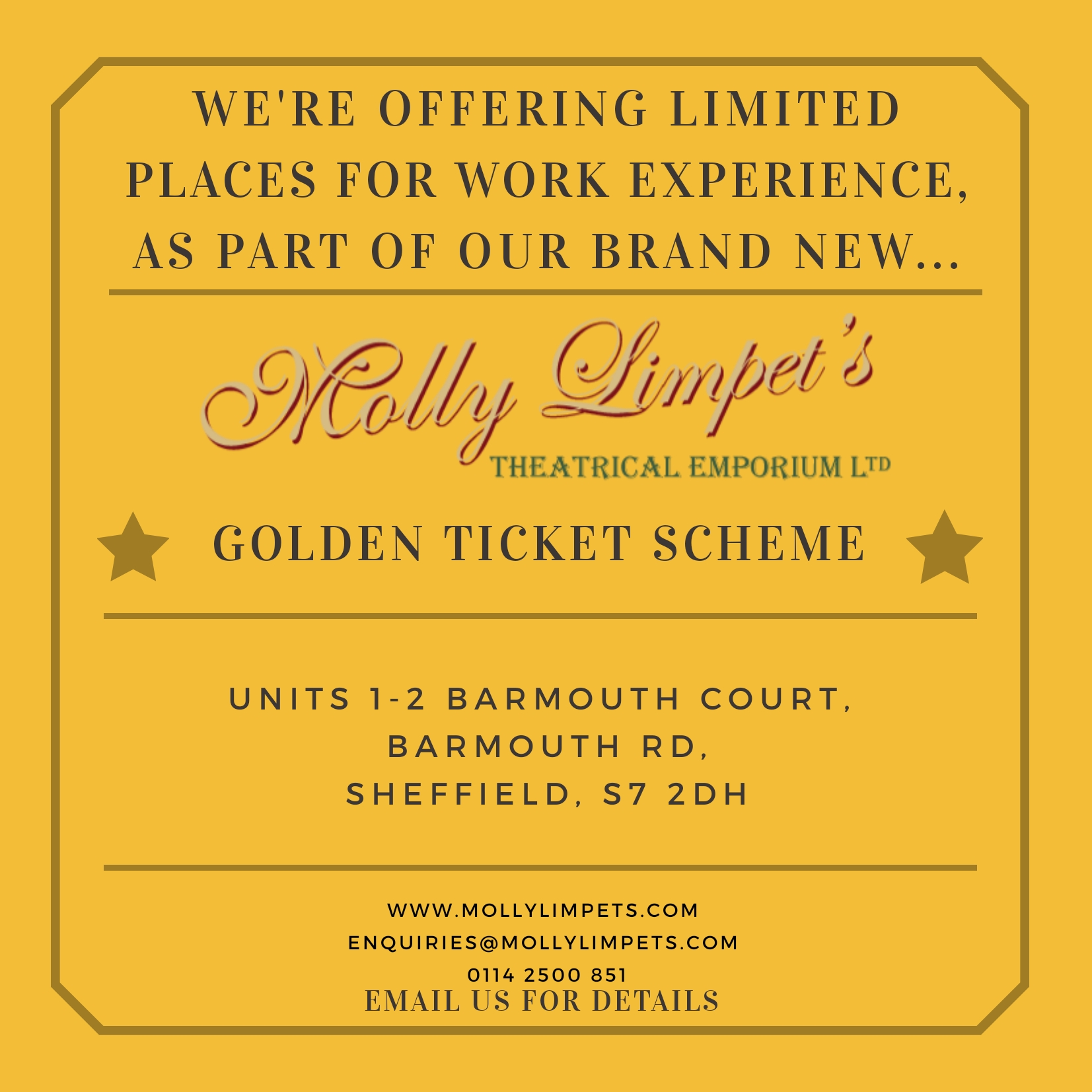 Molly Limpet's Work Experience Scheme