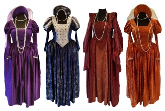 tudor and henry VIII fancy dress costumes