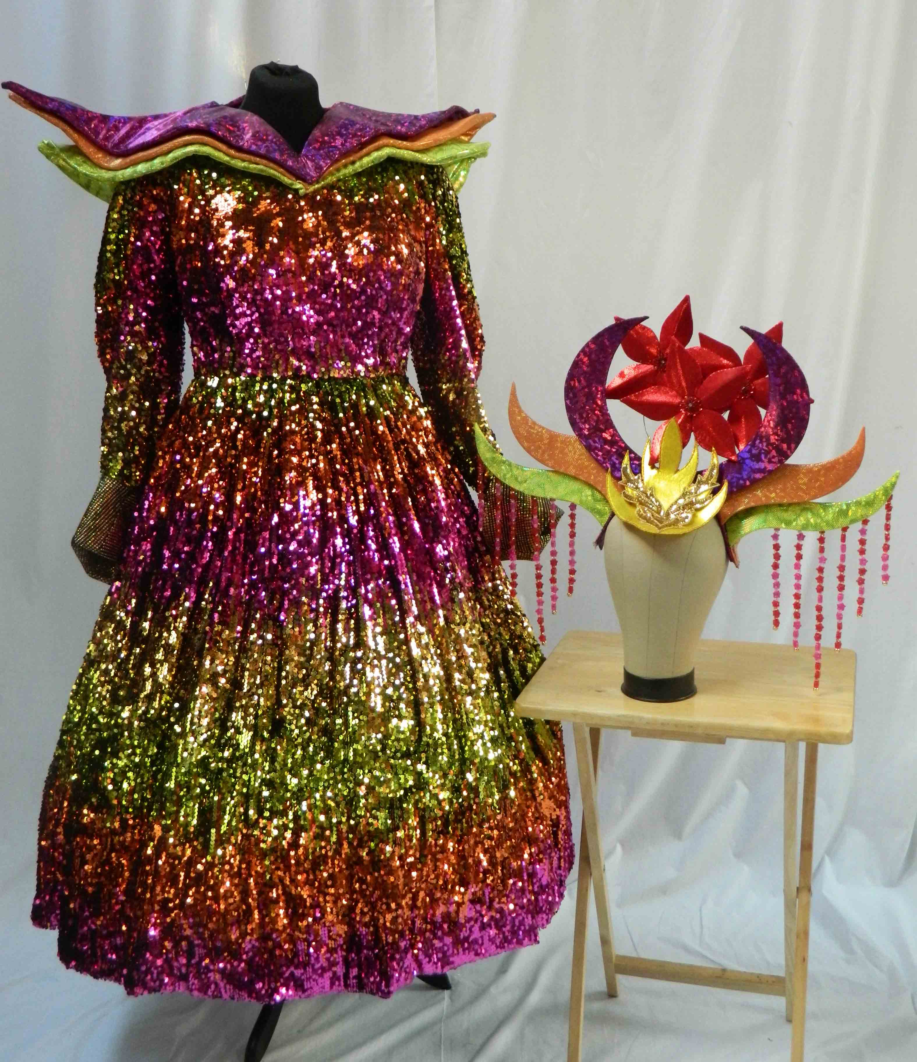 Aladdin Costume Hire 06 - Twankey Sequin Flame