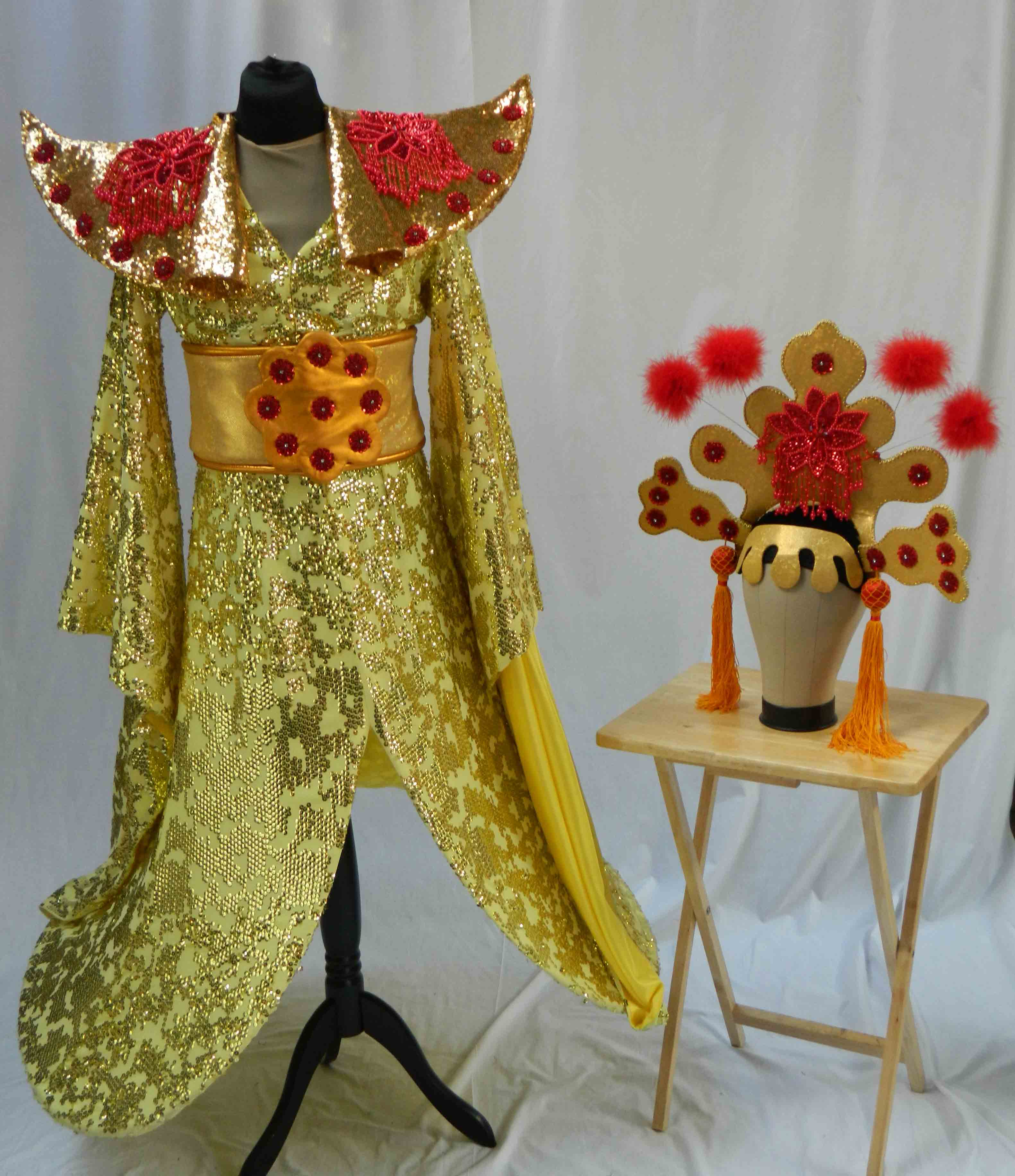 Aladdin Costume Hire 07 - Empress Gold