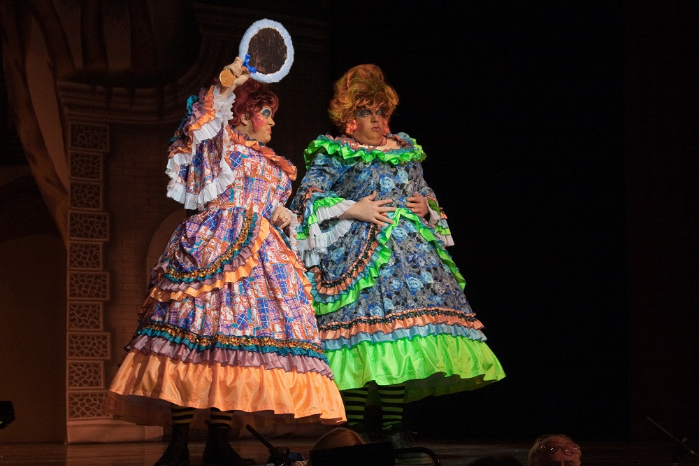 Ugly Sisters Neon Trimmed costumes 0130