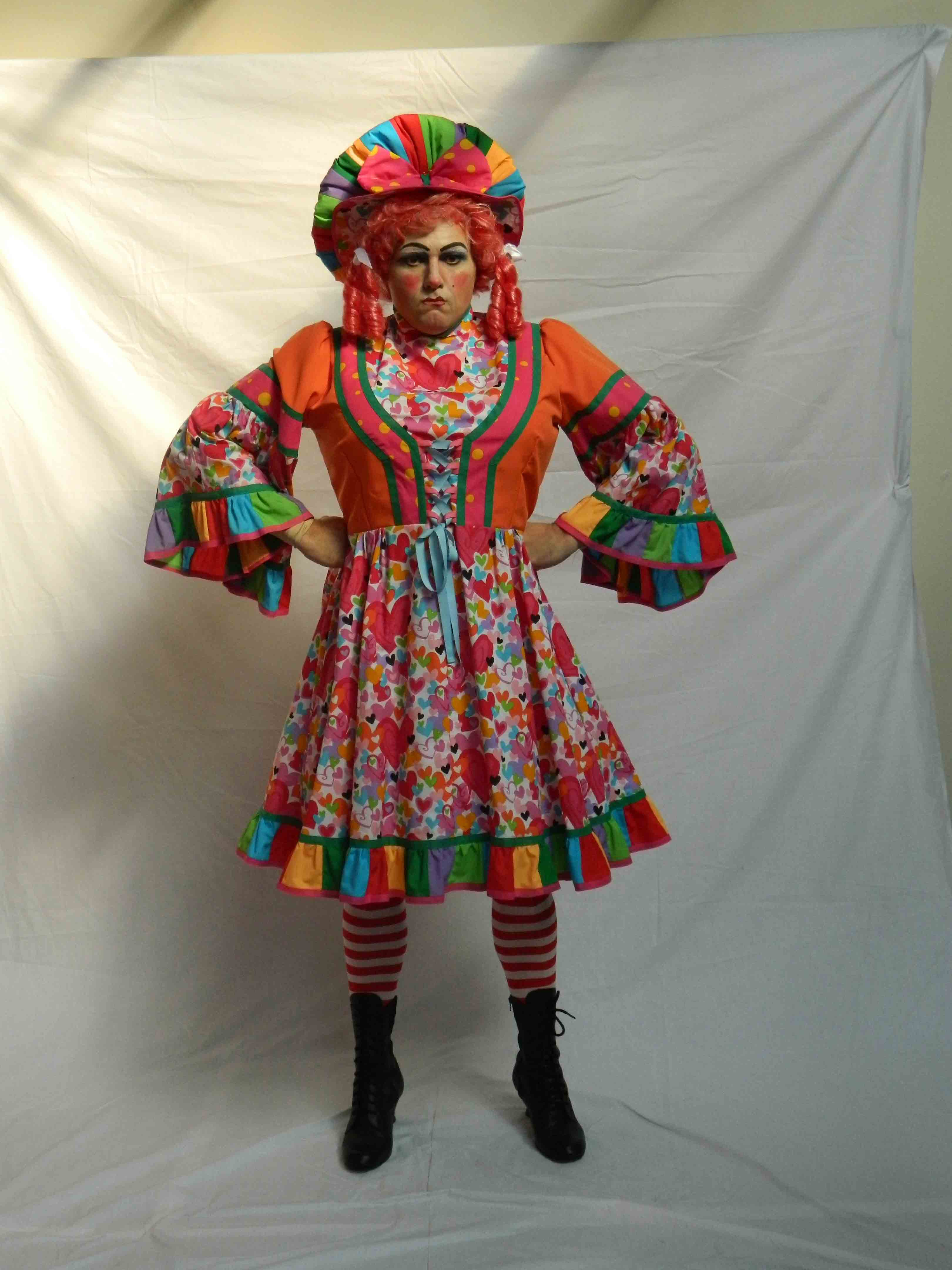 Panto Dame - Multicoloured Hearts