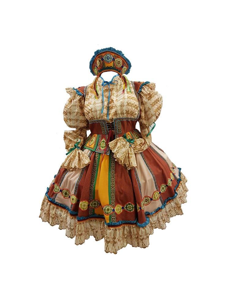 lonely goatherd panto dame costume hire