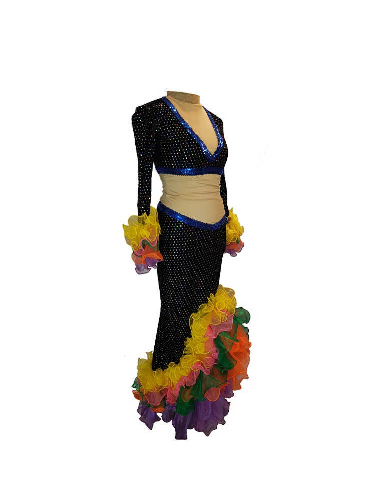 slim-fitting showgirl panto dame costume