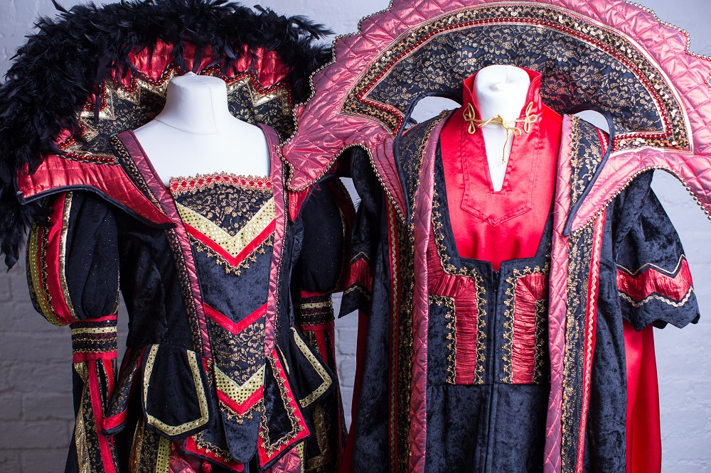 Tudor-themed panto finale costumes
