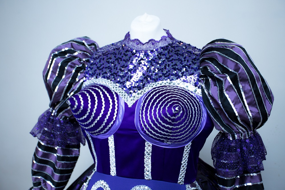 purple panto dame costume