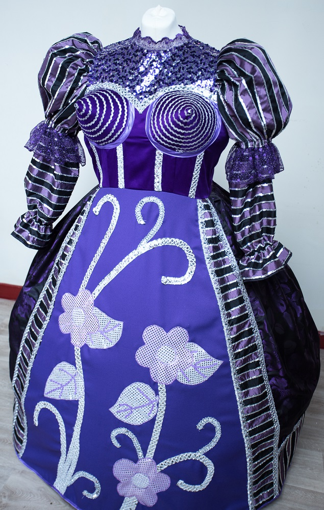 embroidered pantomime costume hire