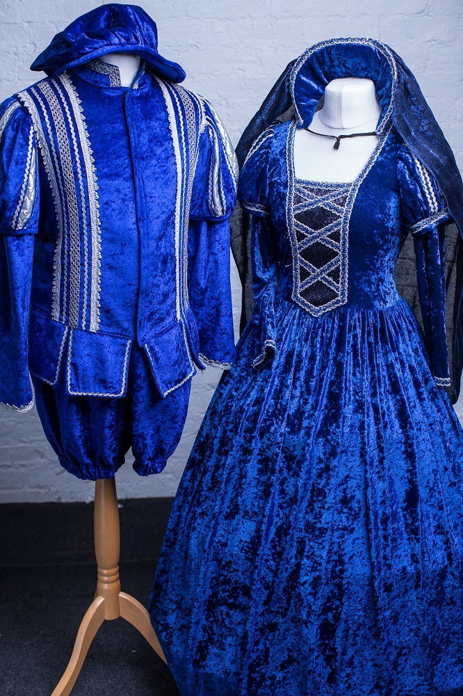 Royal Blue & Silver Panto Costume Hire