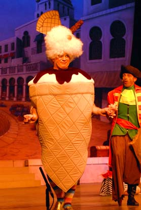 ice cream themed dame panto costume