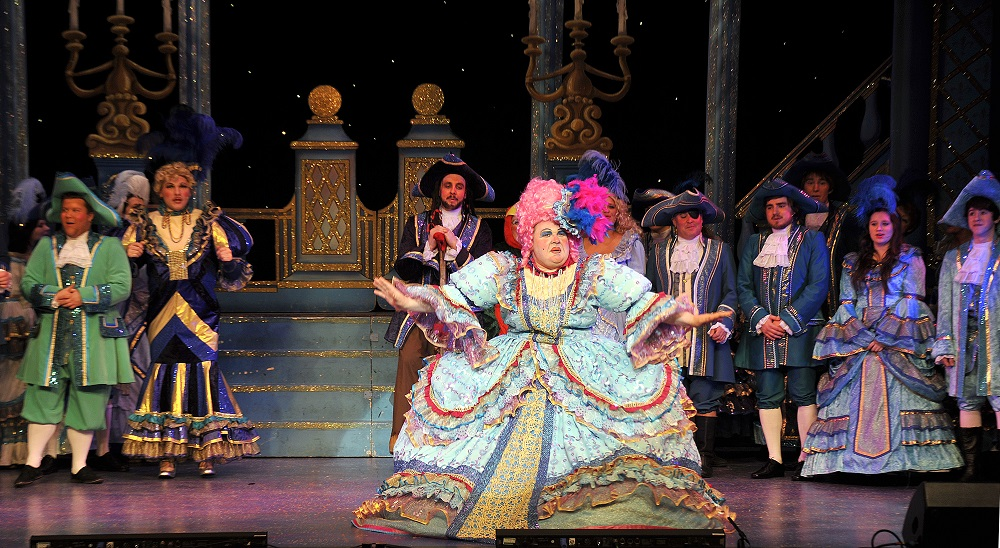 stunning panto dame finale costume