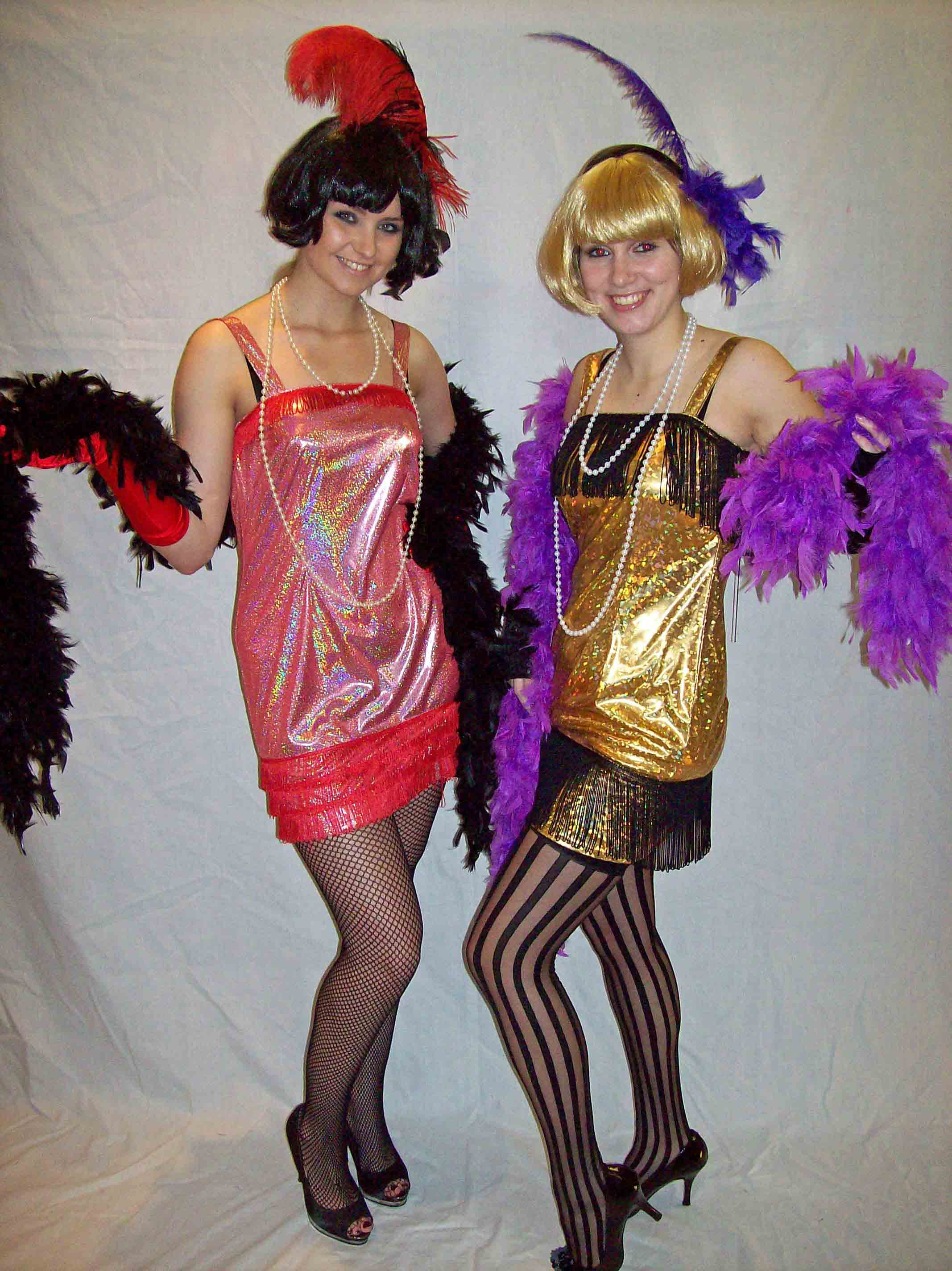 Sequin flapper girl costumes