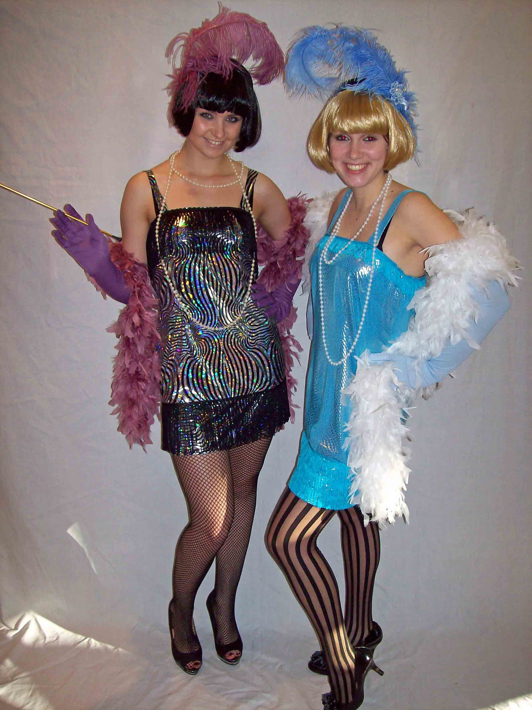 Flapper girl hire costumes
