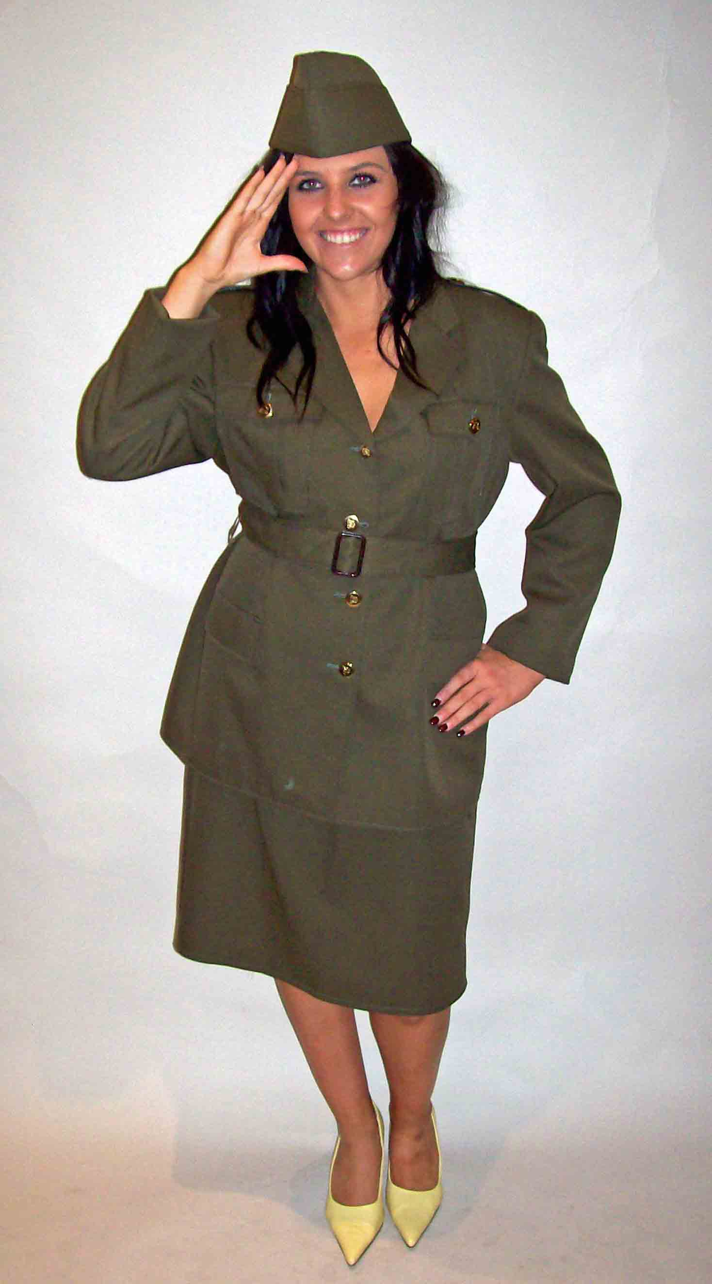 Ladies WW2 Army hire fancy dress costume