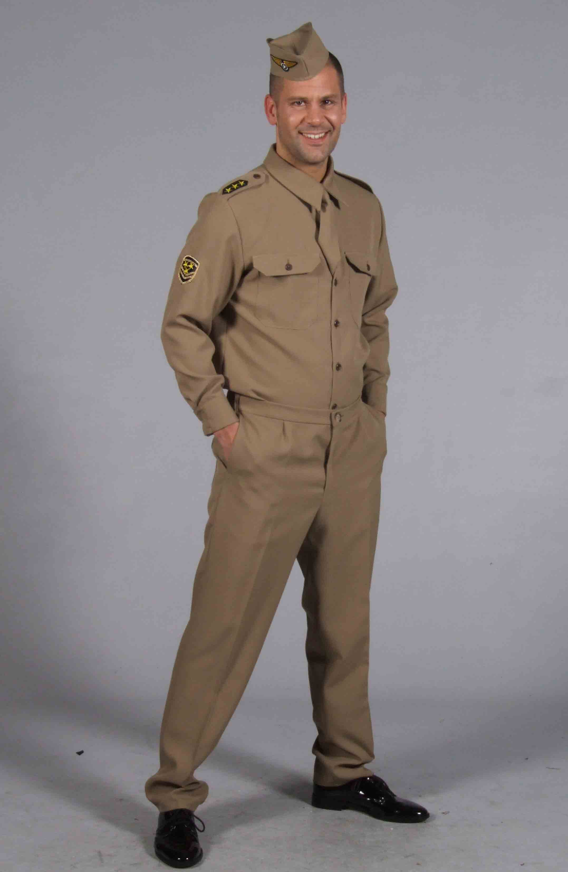 Men's American GI fancy dress costume