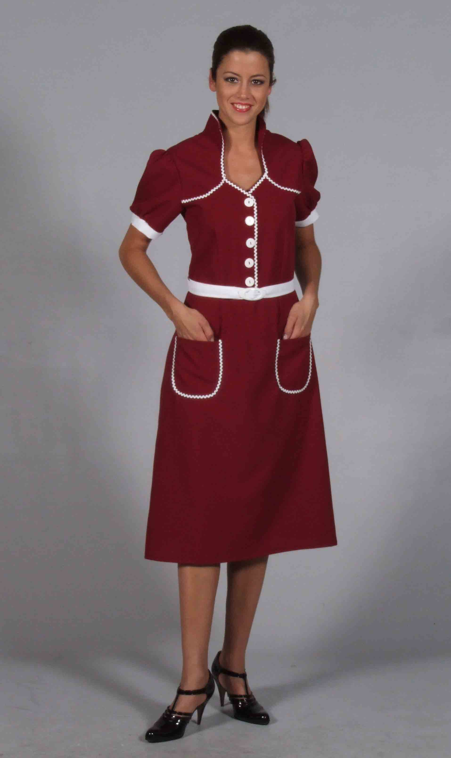 1940s utility dress for hire