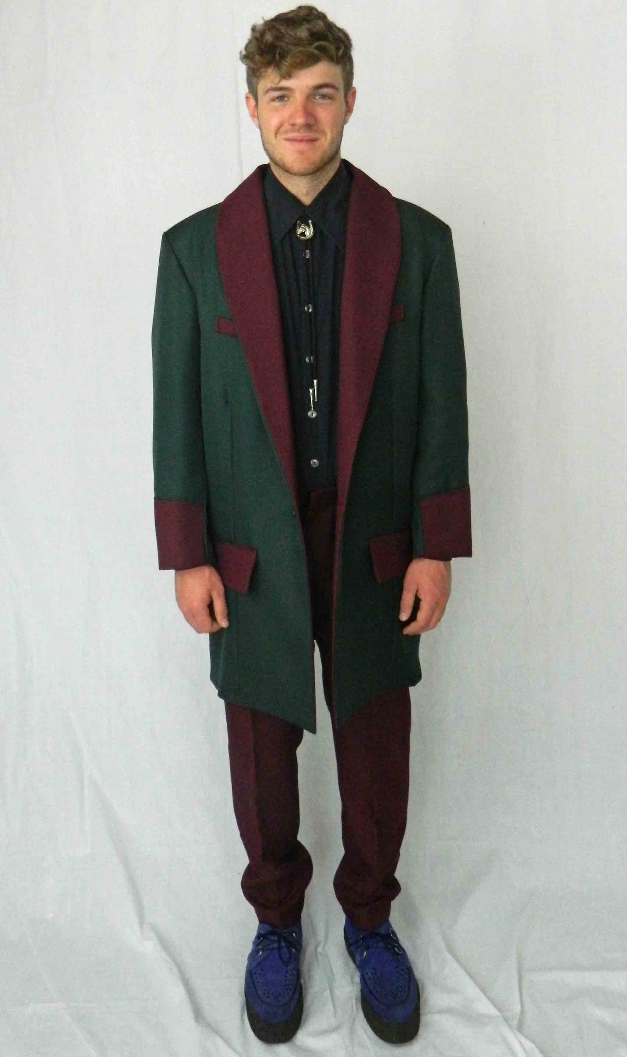 Teddy Boy Deluxe Green & Burgundy