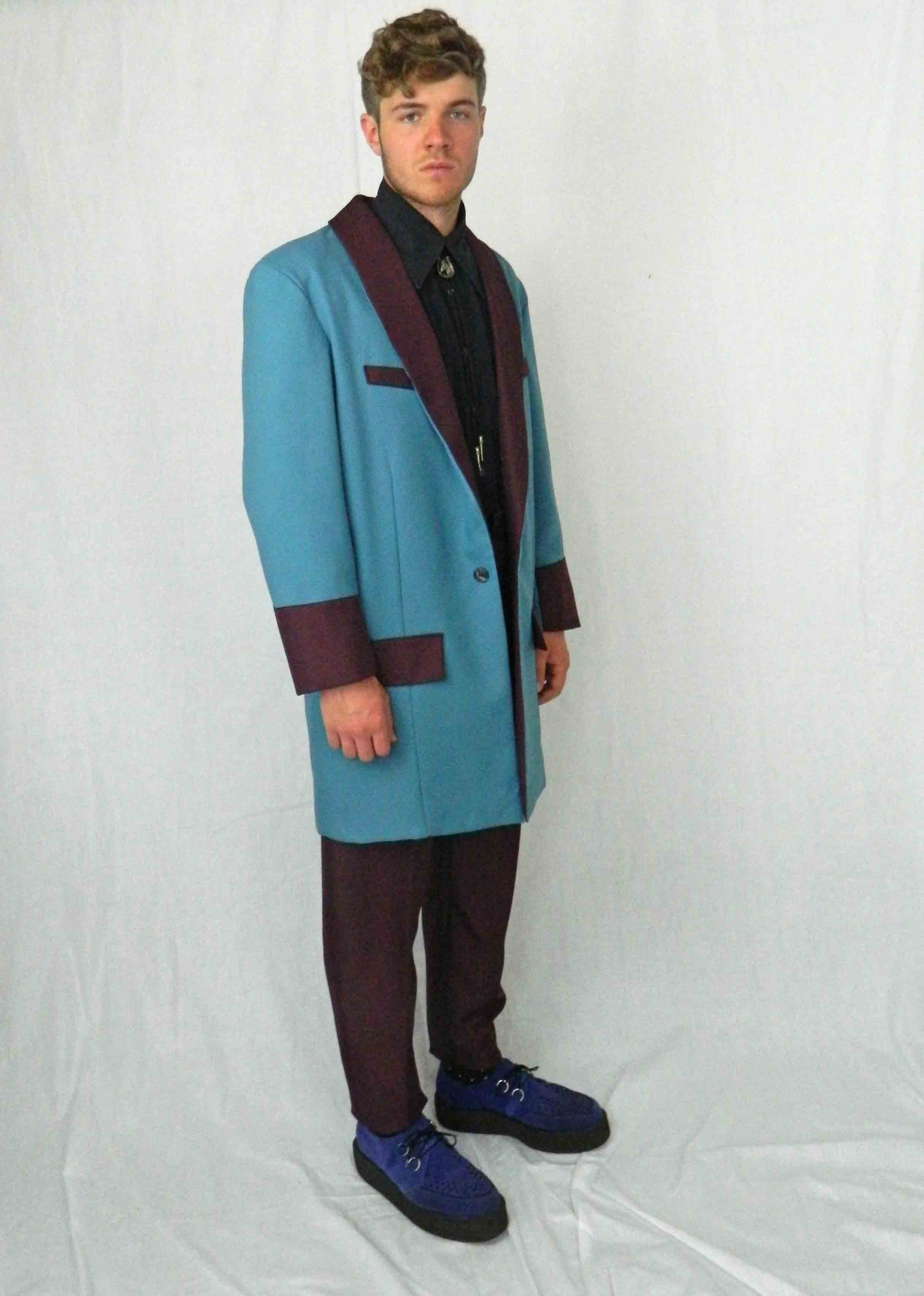 Teddy Boy Deluxe Blue & Burgundy