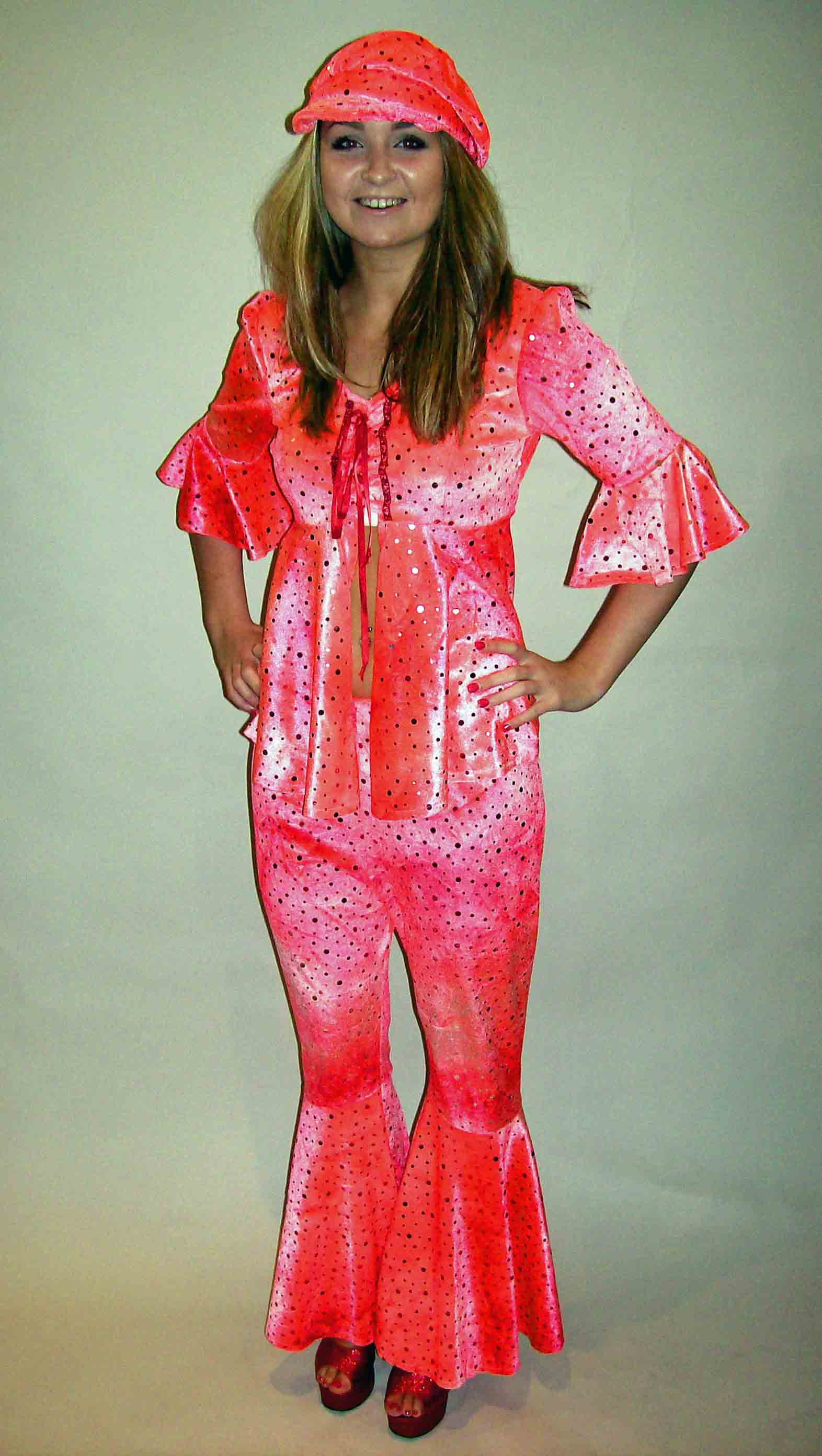 70s Girl - Pink Sequin