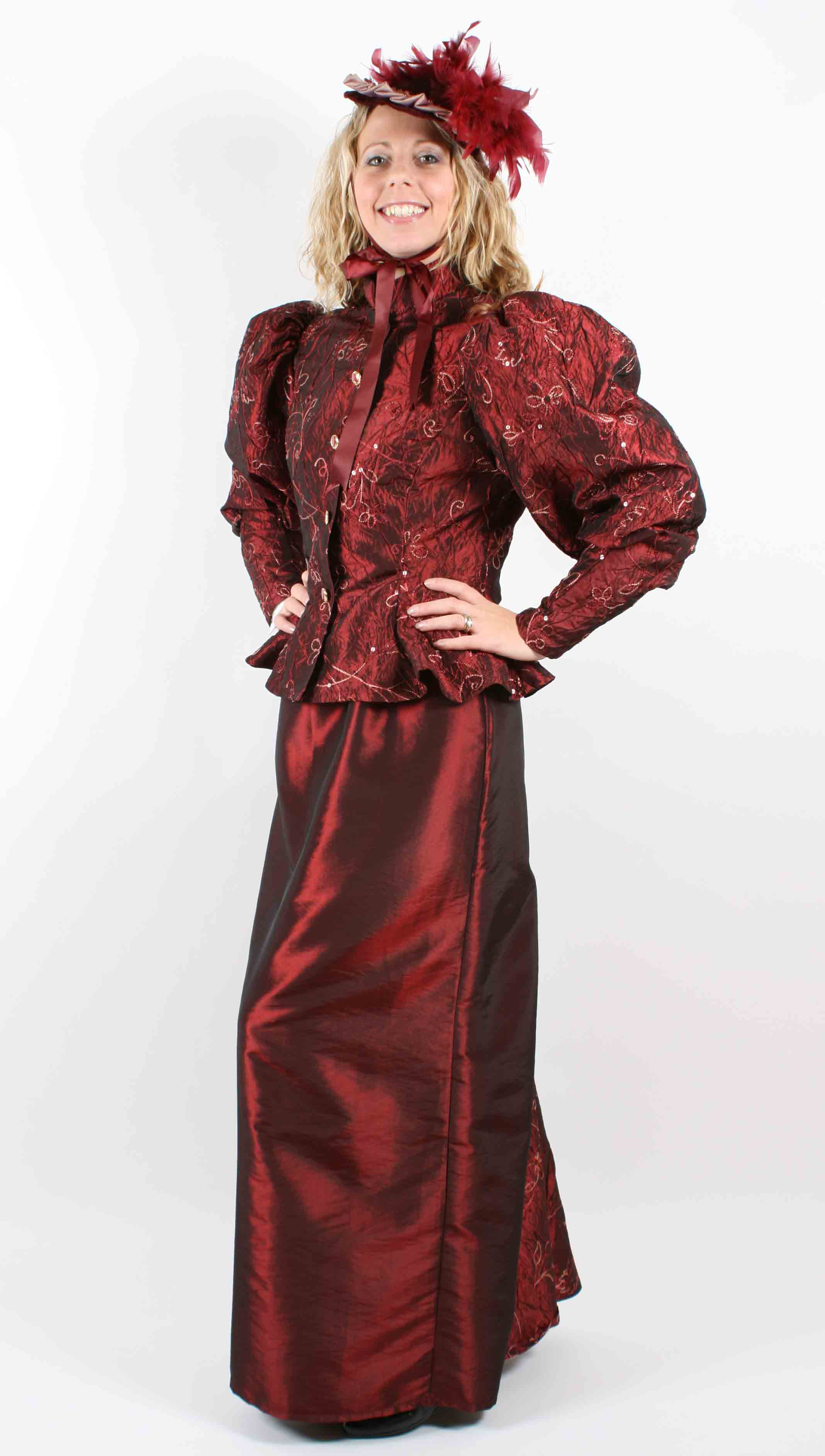 Victorian Lady - Burgundy Sequin