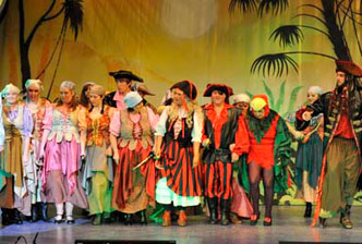 pirate themed pantomime costume hire